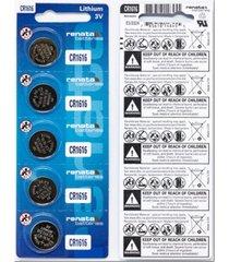 pila para reloj renata cr1616 litio 3v x5 baterias