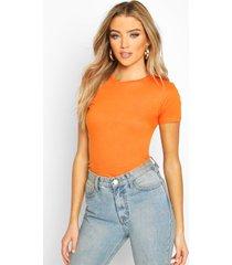100% cotton crew neck t-shirt, orange