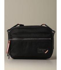 bally shoulder bag figj shoulder bag bally in nylon with trainspotting shoulder strap