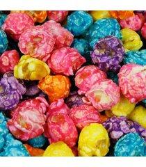 rainbow color caramel coated popcorn, 1 lb