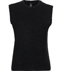 yaszal waistcoat d2d vests knitted vests svart yas