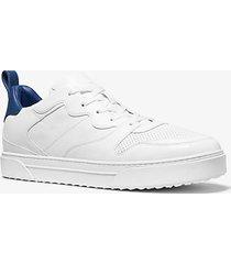 mk sneaker baxter stringata in pelle bicolore - bianco ottico (bianco) - michael kors