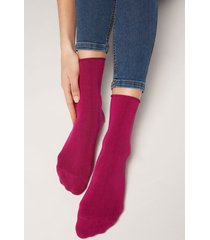 calzedonia ankle socks with cashmere woman violet size 39-41