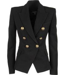 balmain serge double breasted blazer jacket noir