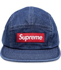 supreme washed chino twill camp cap - blue