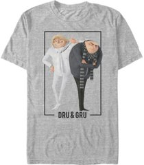 minions illumination men's despicable me 3 dru and gru brothers short sleeve t-shirt
