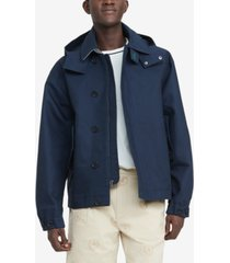 tommy hilfiger men's benny removable-hood rain jacket