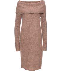 abito in maglia con spalle scoperte (rosa) - bodyflirt