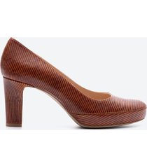 zapato formal mujer unisa shoes z01d caramelo