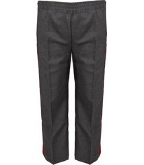 gucci grey pants with stripes