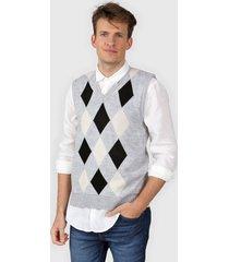 sweater gris moni tricot rombos