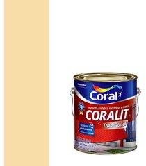 esmalte sintético brilhante coralit marfim 3,6l - coral - coral
