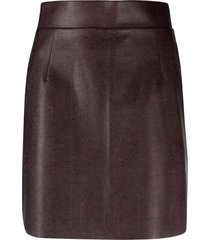 raquette the western skirt - brown
