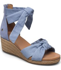 w yarrow sandalette med klack espadrilles blå ugg
