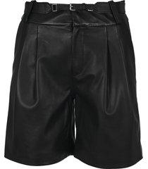 red valentino leather bermuda shorts