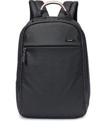 """mochila notebook  17 travel zoomp poliéster alça de mão alumínio resistente preta"""" - kanui"""