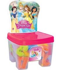 educa kids banquinho lider princesas multicolorido - kanui