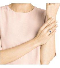 anillo swarovski symbolic evil eye, multicolor, baño en tono oro rosa