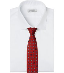 cravatta su misura, lanieri, vintage rosso, quattro stagioni