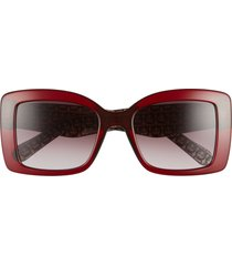 salvatore ferragamo classic 54mm gradient rectangular sunglasses -