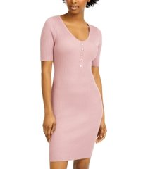 almost famous juniors' ribbed-knit bodycon dress