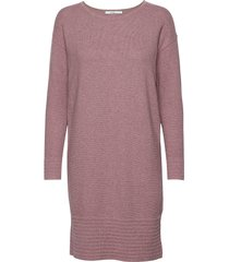 dresses flat knitted knälång klänning rosa edc by esprit