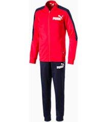 baseball collar boys' track suit, rood, maat 104   puma