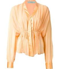 jean louis scherrer pre-owned 70s skirt suit - yellow