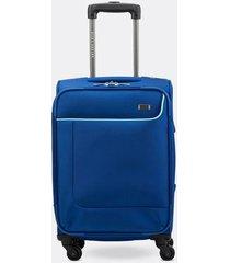 maleta de viaje pequeña en lona con cuatro ruedas giratorias 00144