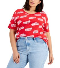 mighty fine trendy plus size stranger things t-shirt