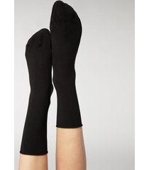 calzedonia ankle socks with cashmere woman black size 39-41