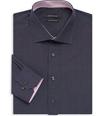 contemporary-fit contrast-trim dress shirt