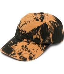 032c bleach-print baseball cap - black