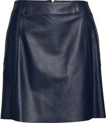 leather cheerleader, kort kjol blå tommy hilfiger
