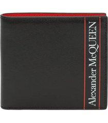 men's alexander mcqueen leather billfold wallet - black