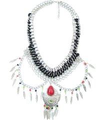 collar plateado sasmon cl-11249