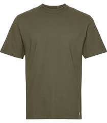 round neck t-shirt t-shirts short-sleeved grön armor lux