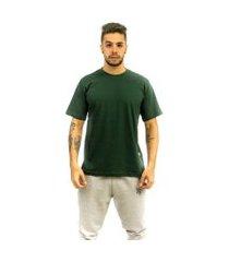 camiseta rich young básica lisa verde escuro