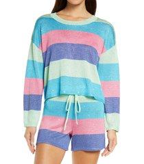 beach riot beach stripe sweater, size x-large in mod stripe at nordstrom