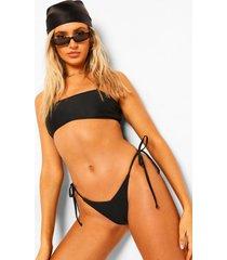 essentials korte bikini top met bandjes, zwart