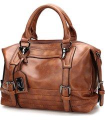borsa traversa per sacco a tracolla della borsa della borsa boston dell'annata per le donne
