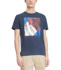 tommy hilfiger men's spangled logo graphic t-shirt