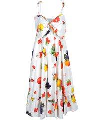 msgm msgm fruits print dress
