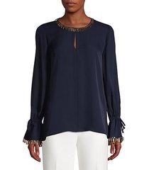 juliette sequin trim blouse