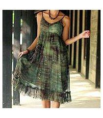 beaded dress, 'shibori enchantment' (india)