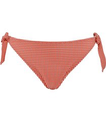 côte d'azur bikini slip met strikjes | red and white - l