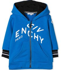 givenchy sky blue cotton-blend hoodie