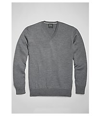 traveler collection tailored fit merino wool v-neck men's sweater - big & tall