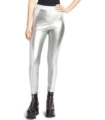 stretch metallic leggings