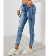 bolsillos laterales cintura baja jeans